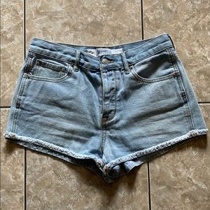 Brandy Melville high waist fray shorts size 28